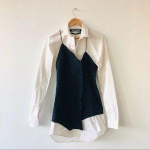 Jacquemus Cotton Cutwork Shirt Dress